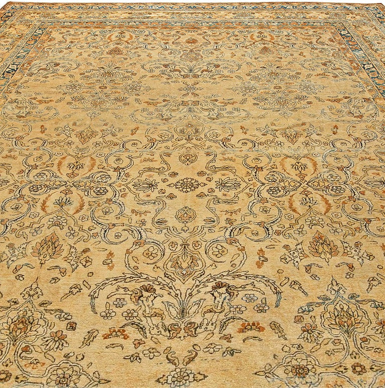 Antique Persian Kirman Rug In Good Condition For Sale In New York, NY