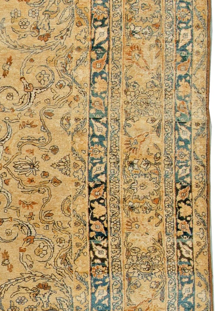 20th Century Antique Persian Kirman Rug For Sale