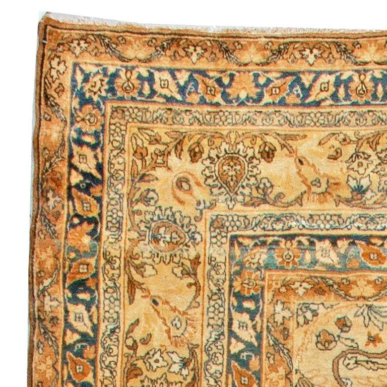 Wool Antique Persian Kirman Rug For Sale