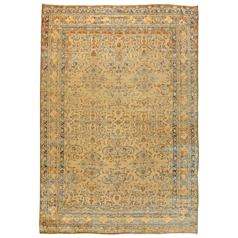 Antique Persian Kirman Rug For Sale