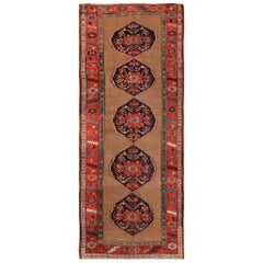 Antique Persian Kurdish Bidjar Runner Rug. Size: 4 ft 10 in x 11 ft 10 in