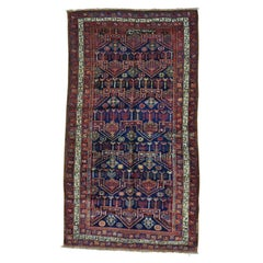 Antique Persian Kurdish Bijar Exc Cond Hand Knotted Wide Runner Rug