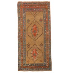 Antique Persian Kurdish Rug with Mixed Floral and Geometric Patterns