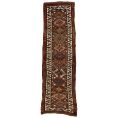 Antique Persian Kurdish Rug with Nomadic Raconteur Style, Hallway Runner