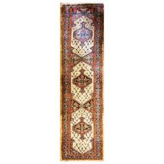 Antique Persian Kurdish Runner, Serab Design
