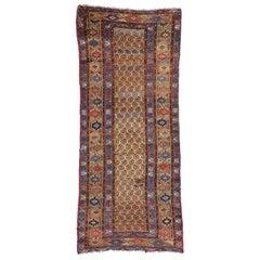 Antique Persian Kurdish Runner, Tribal Hallway Runner