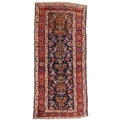 Antique Persian Kurdish Runner, Wide Hallway Runner