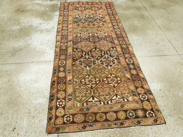 Antique Persian Kurdish Tribal Rug In Good Condition For Sale In New York, NY