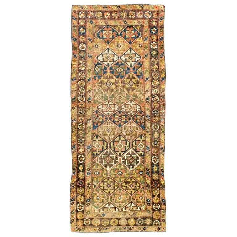 Antique Persian Kurdish Tribal Rug For Sale