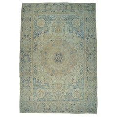 Antique Persian Lavar Kerman Oversize Good Cond Handmade Rug, Soft Colors