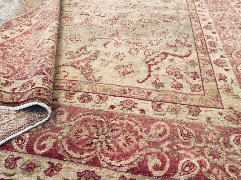Antique Persian Lavar Kerman Rug For Sale 3