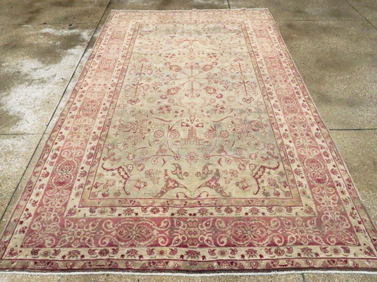 Antique Persian Lavar Kerman Rug In Good Condition For Sale In New York, NY