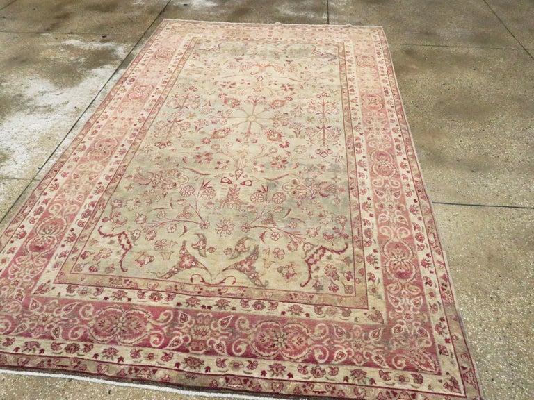 20th Century Antique Persian Lavar Kerman Rug For Sale