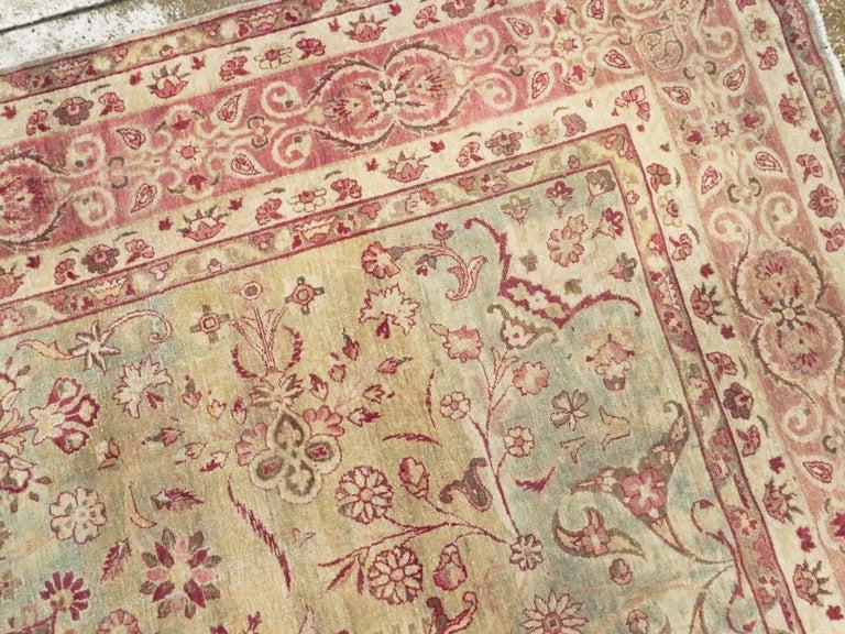 Antique Persian Lavar Kerman Rug For Sale 1