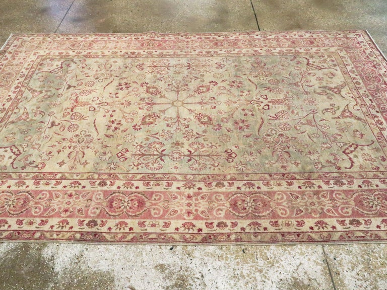Antique Persian Lavar Kerman Rug For Sale 2