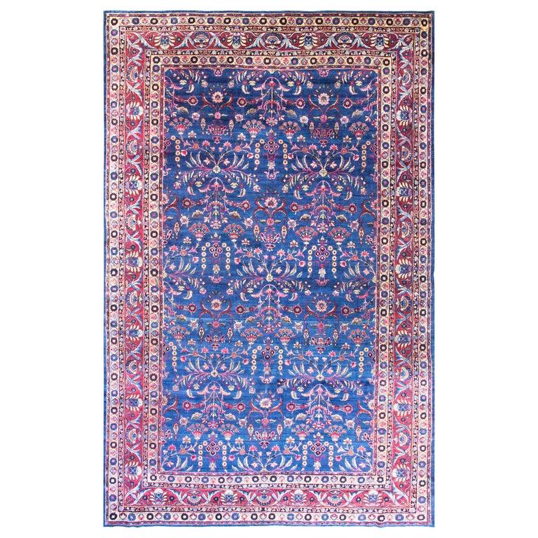 Antique Persian Laver Kerman Carpet Amazing Color For Sale At 1stdibs