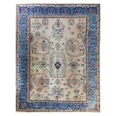 Antique Persian Laver Kerman Carpet