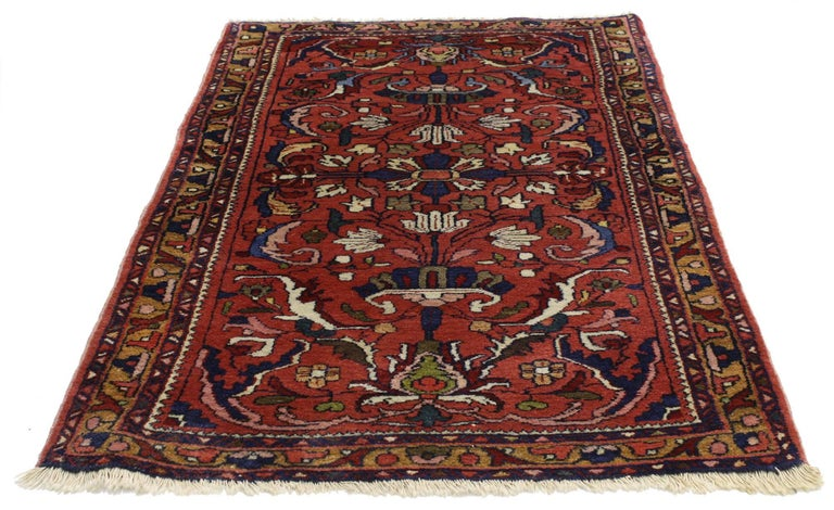 Foyer Rugs Sale : Antique persian lilihan accent rug with traditional style