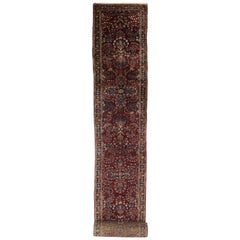 Antique Persian Lilihan Long Runner with Old World Regency Style