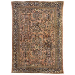 Antique Persian Lilihan Rug with Traditional Style