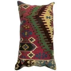 Antique Persian Lumbar Kilim Pillow