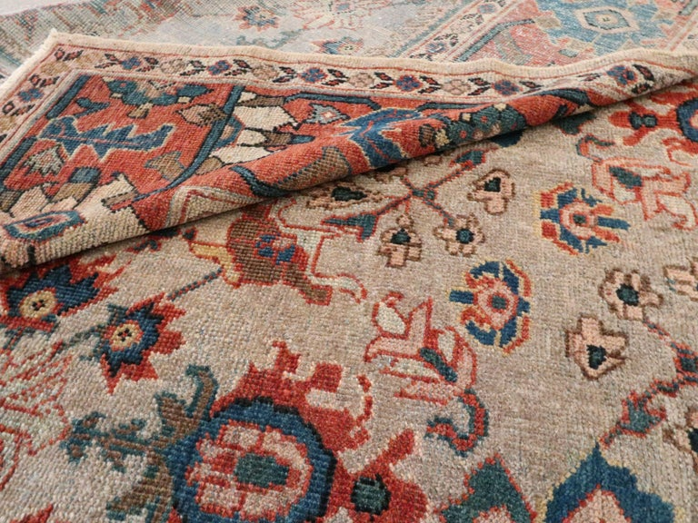 Antique Persian Mahal Carpet For Sale 3