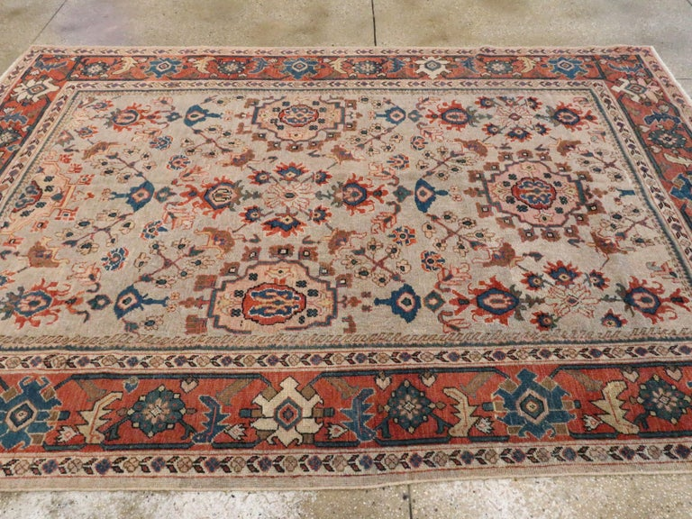 Antique Persian Mahal Carpet For Sale 1