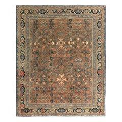 Antique Persian Mahal Rug All-Over Design