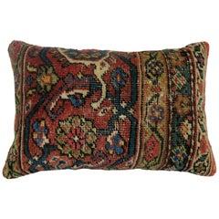 Antique Persian Mahal Rug Bolster Pillow
