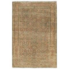Antique Persian Mahal Rug, circa 1900, 4' x 6'
