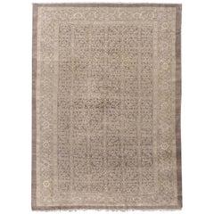 Antique Persian Mahal Rug, circa 1900, 7' x 9'7