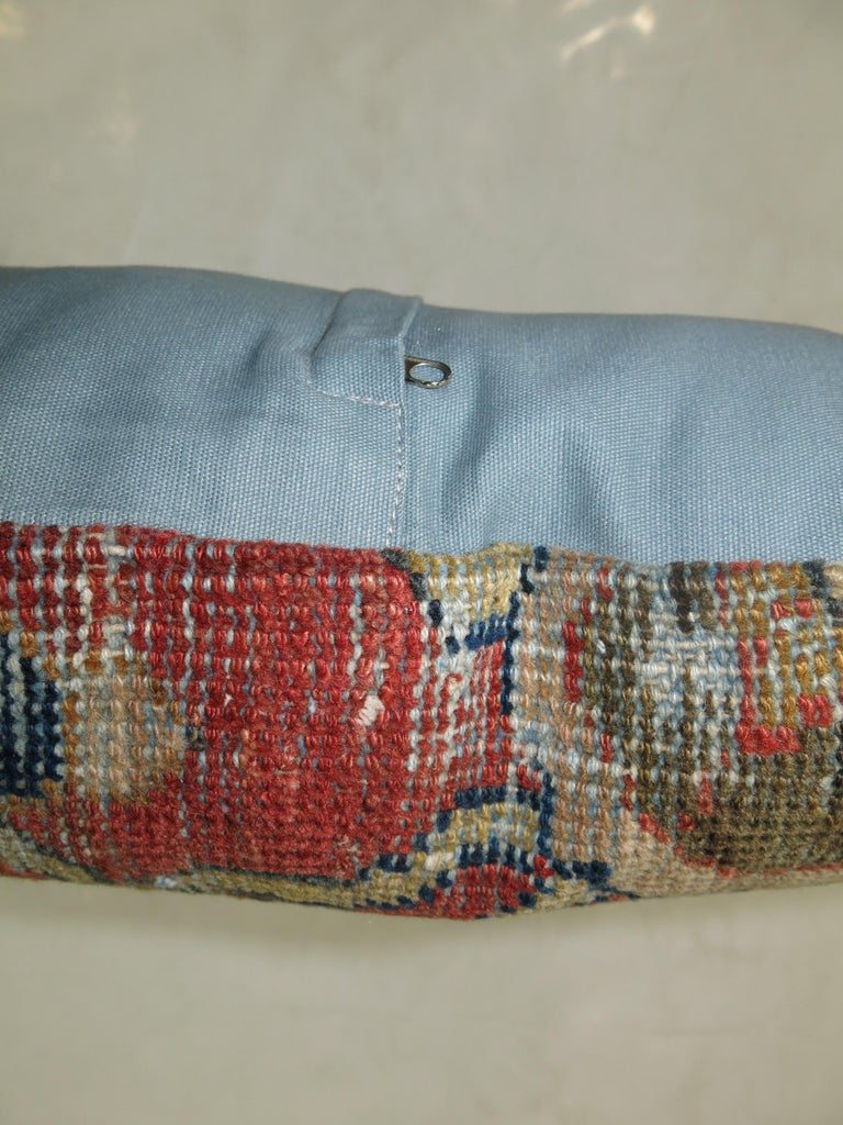 """Pillow made from antique Persian rug with cotton back. Zipper closure and foam insert provided. Measures: 20"""" x 20""""."""
