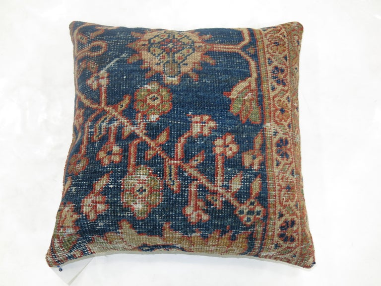 Sultanabad Antique Persian Mahal Rug Pillow For Sale