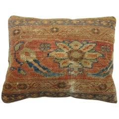 Antique Persian Mahal Rug Pillow