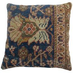 Traditional Antique Persian Mahal Rug Pillow