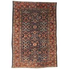 Antique Persian Mahal Rug with Mina Khani Pattern and Arts & Crafts Style