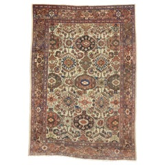 Antique Persian Mahal Rug with Rustic American Colonial Style