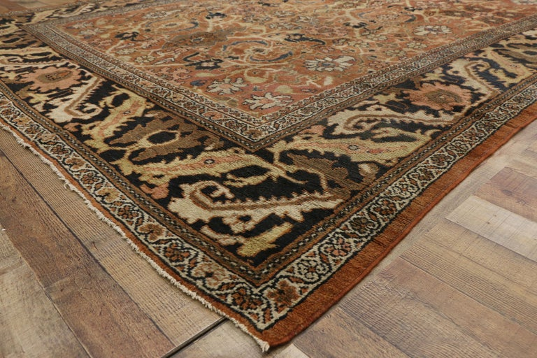 20th Century Antique Persian Mahal Rug with Traditional Style For Sale