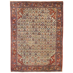 Antique Persian Mahal Rug with Victorian Style