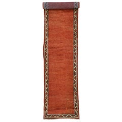 Antique Persian Mahal Runner in Red with Manor House Tudor Style