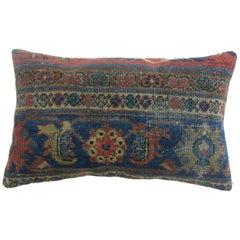 Antique Persian Mahal Shabby Chic Bolster Rug Pillow