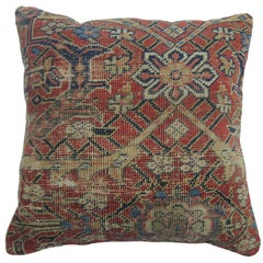 Traditional Shabby Chic Antique Persian Mahal Rug Pillow