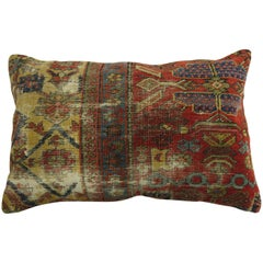 Antique Persian Mahal Shabby Chic Rug Pillow