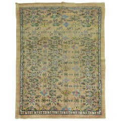 Antique Persian Mahal Square Wool Foyer Size Rug