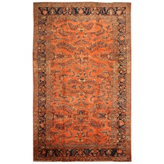 Antique Persian Mahal / Sultanabad Rug