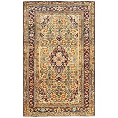 Antique Persian Mahi Fish Design Malayer Rug. Size: 4 ft x 6 ft 5 in