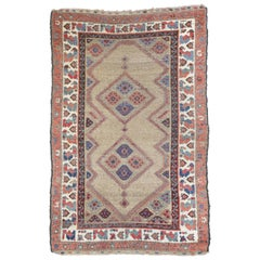 Antique Persian Malayer Accent Rug, Entry or Foyer Rug