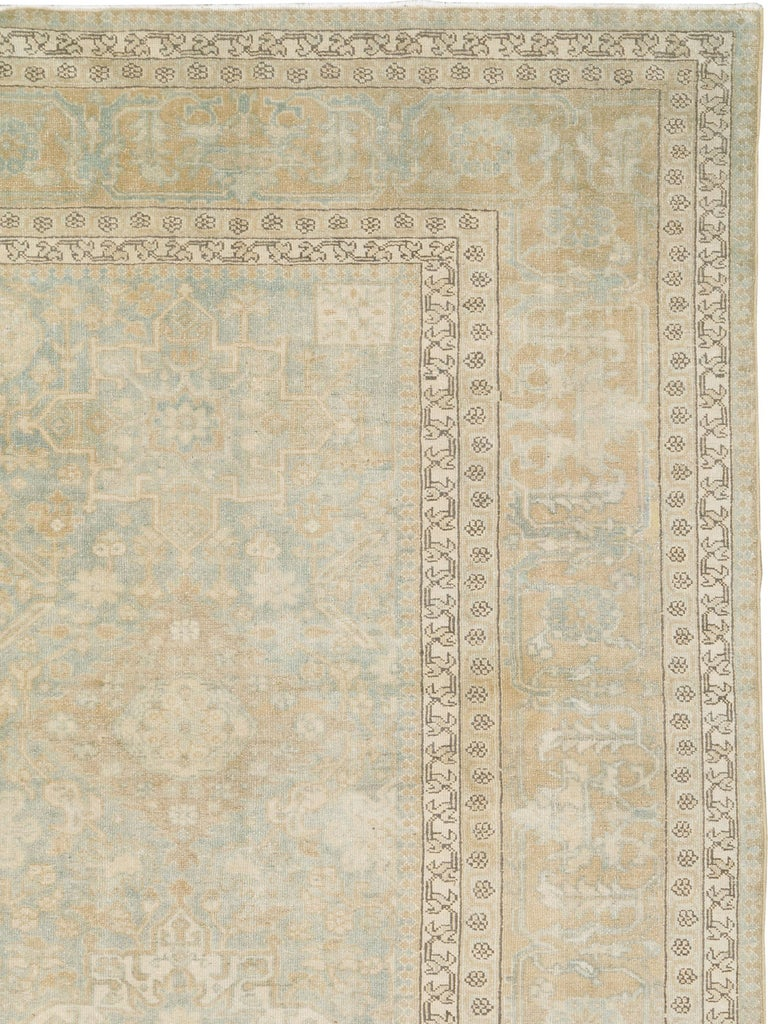 Hand-Knotted Antique Persian Malayer Carpet For Sale