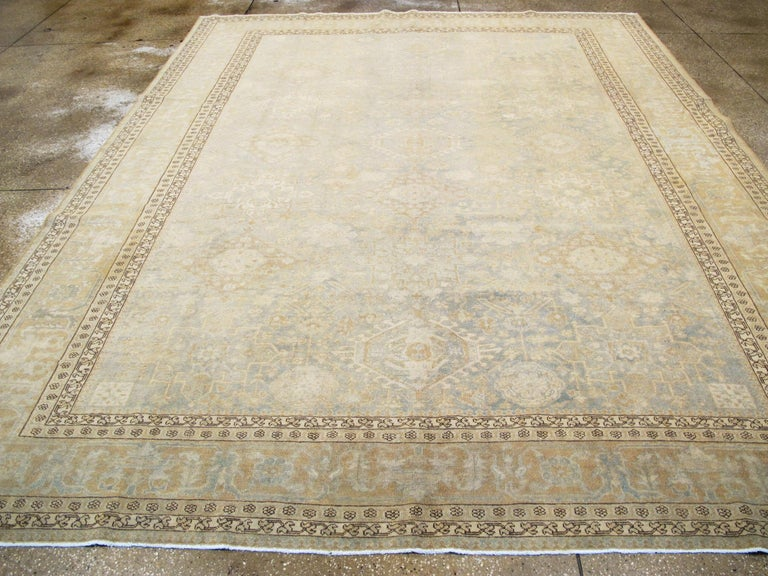 Antique Persian Malayer Carpet In Good Condition For Sale In New York, NY
