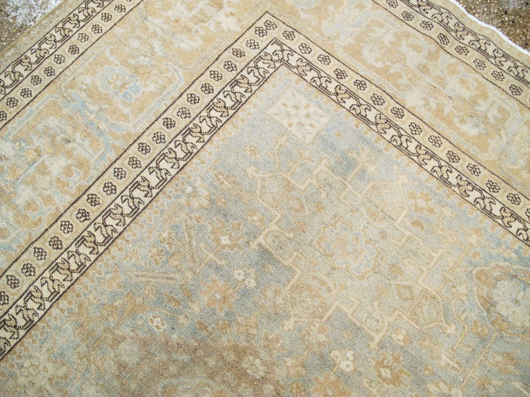 Wool Antique Persian Malayer Carpet For Sale